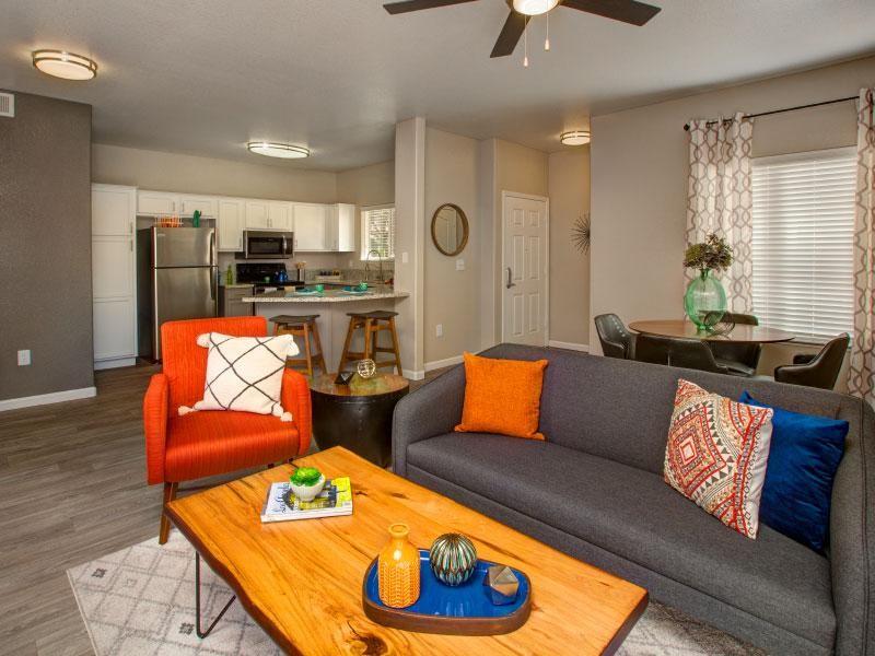 Living Room | Horizons at South Meadows 89521 Apartments